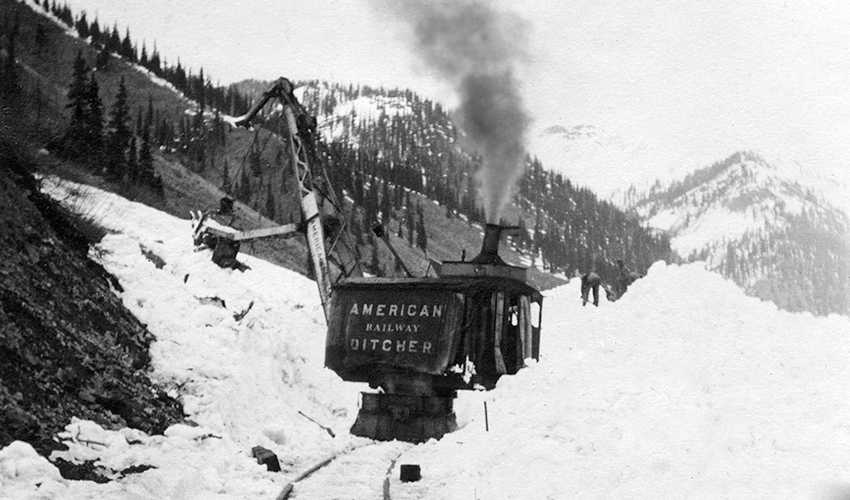 American Railway Ditcher used to clear both mud and snow slides.