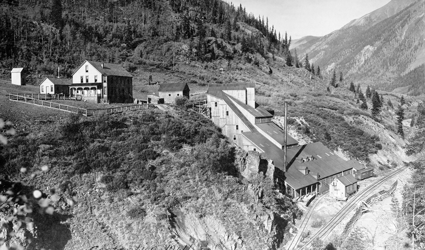 Contention Mill Complex with Silverton Northern siding about 1910.